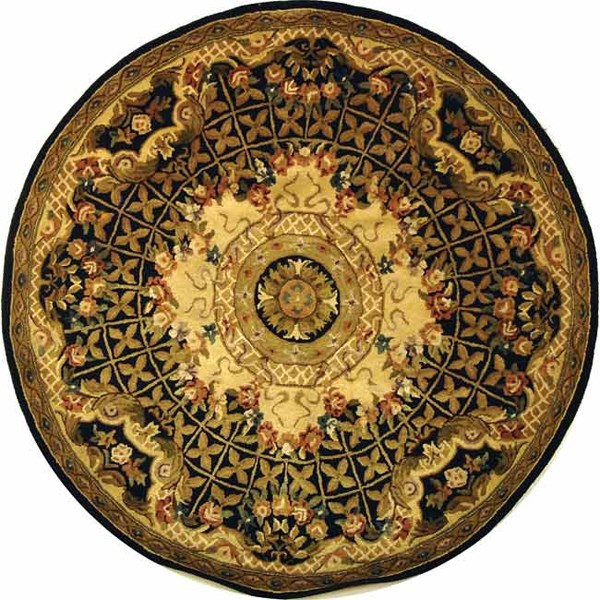 Black, Gold (A) Traditional / Oriental Area Rug