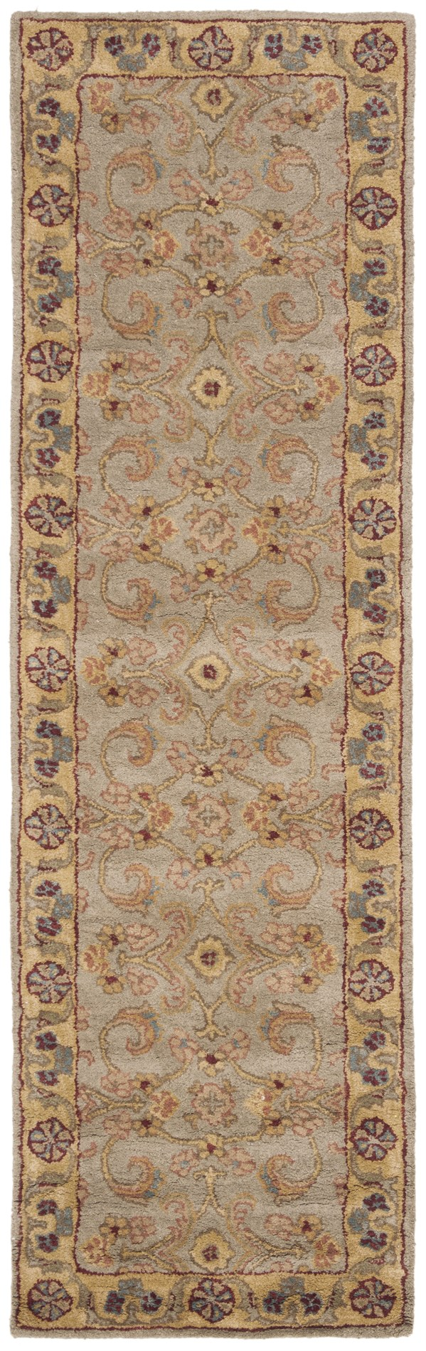 Light Green, Gold (A) Traditional / Oriental Area Rug