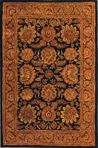 Navy, Red (A) Traditional / Oriental Area Rug