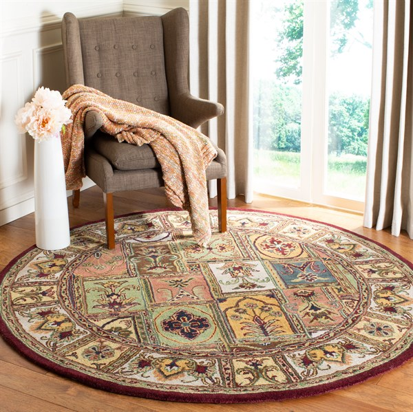 Beige, Brown (A) Traditional / Oriental Area Rug