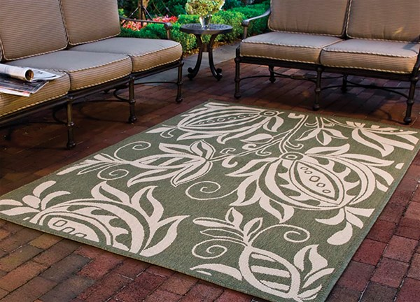 Olive, Natural (1E06) Outdoor / Indoor Area Rug