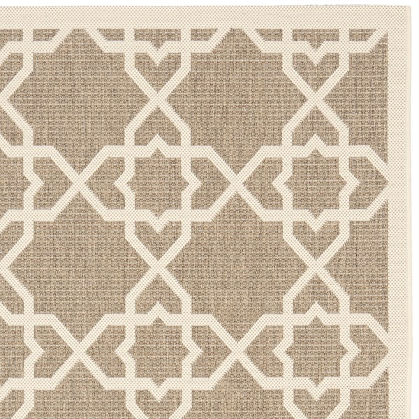 Brown, Beige (242) Moroccan Area Rug