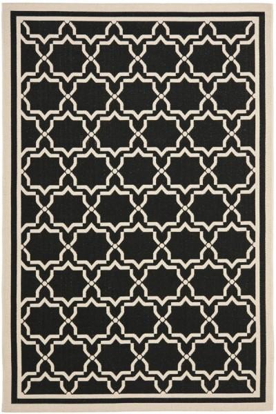 Black, Beige (226) Moroccan Area Rug