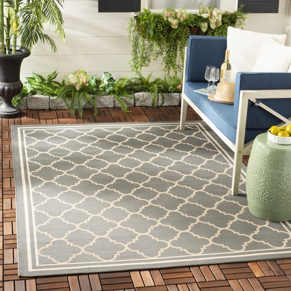 Anthracite, Beige (246) Moroccan Area Rug