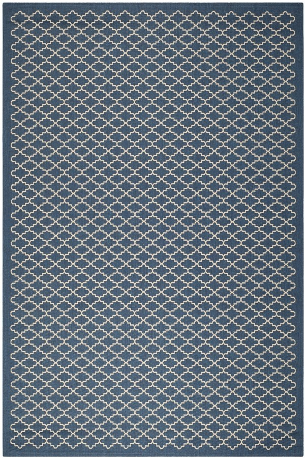 Navy, Beige (268) Transitional Area Rug
