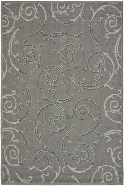 Anthracite, Light Grey (87A) Bordered Area Rug
