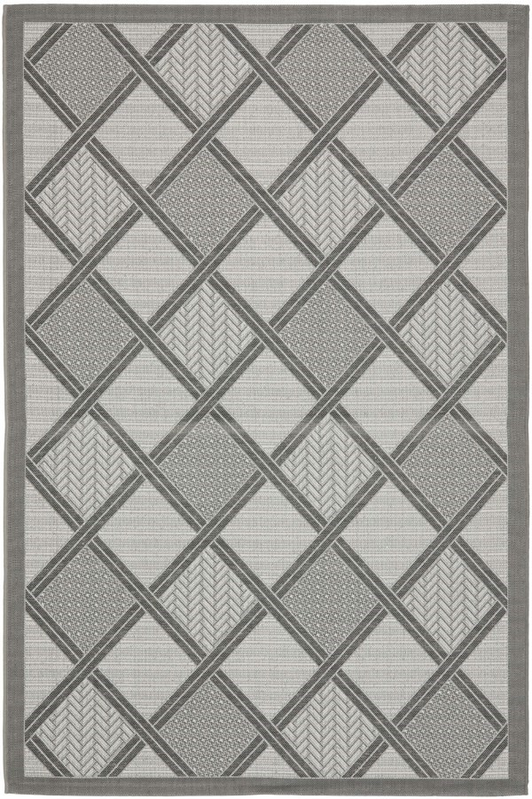 Light Grey, Anthracite (78A5) Transitional Area Rug