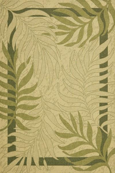 Cream, Green (14A5) Outdoor / Indoor Area Rug