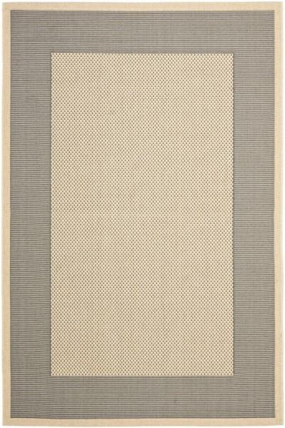 Grey, Cream (65A5) Contemporary / Modern Area Rug