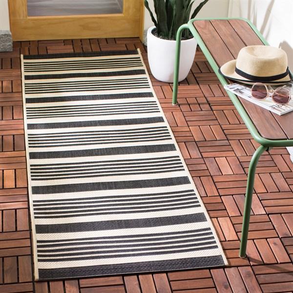 Black, Bone (216) Outdoor / Indoor Area Rug