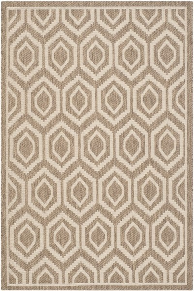 Brown, Bone (242) Contemporary / Modern Area Rug