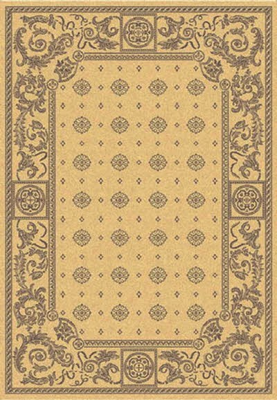 Natural, Brown (3001) Traditional / Oriental Area Rug