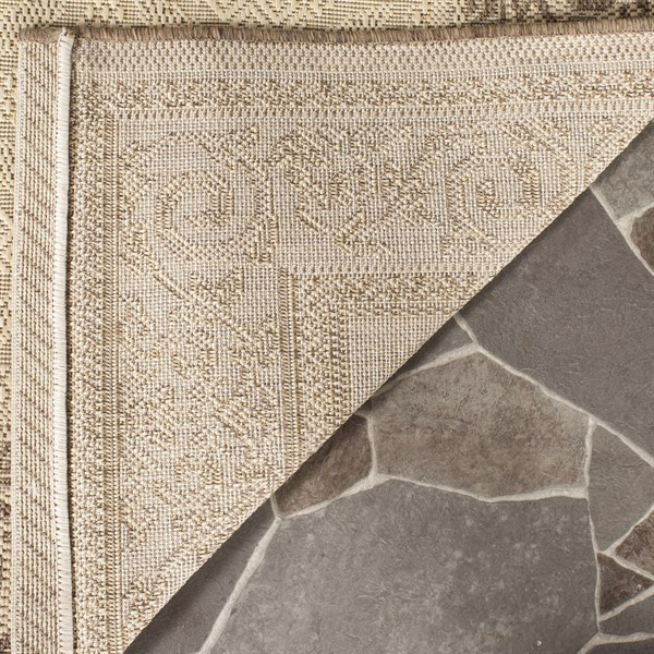 Natural, Brown (3001) Bordered Area Rug