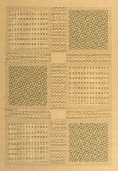 Natural, Olive (1E01) Geometric Area Rug