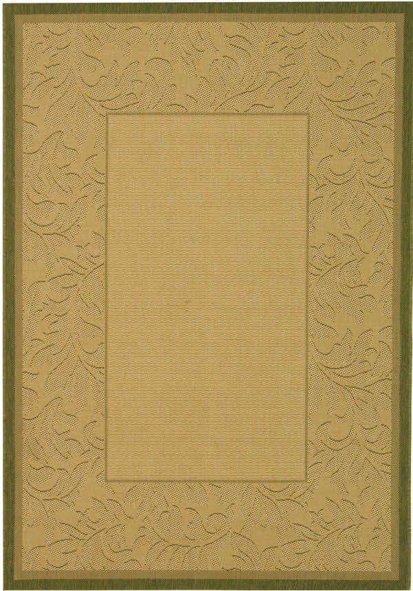 Natural, Olive (1E01) Outdoor / Indoor Area Rug