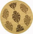 Product Image of Natural, Brown (3001) Damask Area Rug