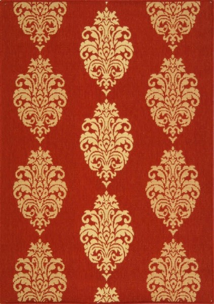Red, Natural (3707) Traditional / Oriental Area Rug
