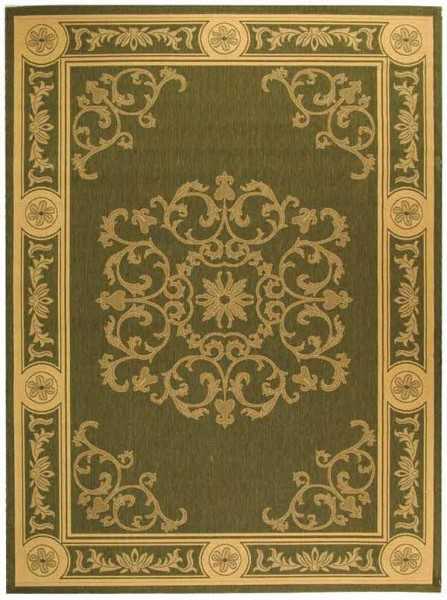 Olive, Natural (1E06) Traditional / Oriental Area Rug