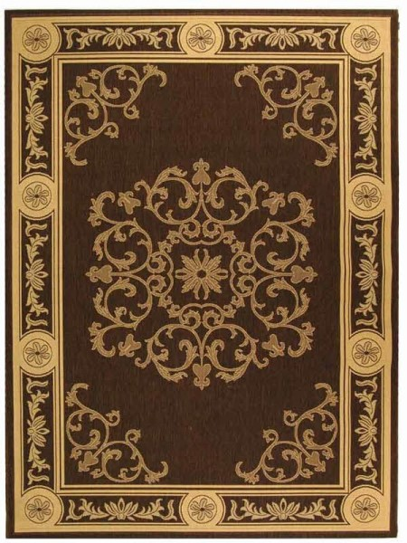 Chocolate, Natural (3409) Traditional / Oriental Area Rug