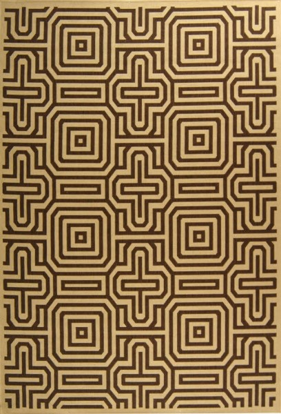 Natural, Brown (3001) Contemporary / Modern Area Rug