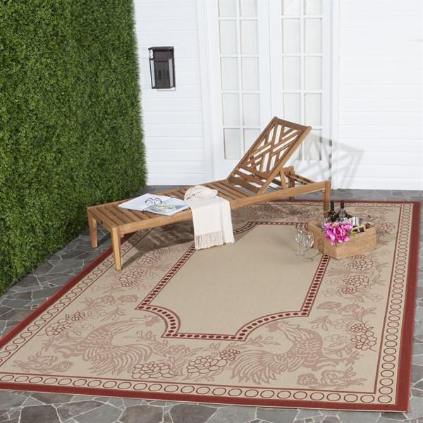 Natural, Red (3701) Outdoor / Indoor Area Rug