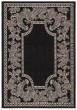 Product Image of Outdoor / Indoor Black, Sand (3908) Area Rug