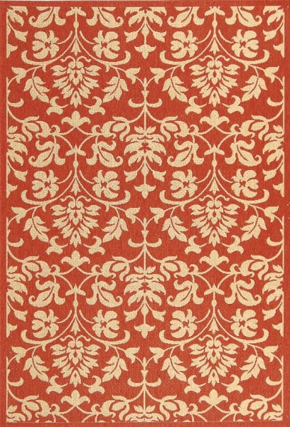 Red, Natural (3707) Transitional Area Rug