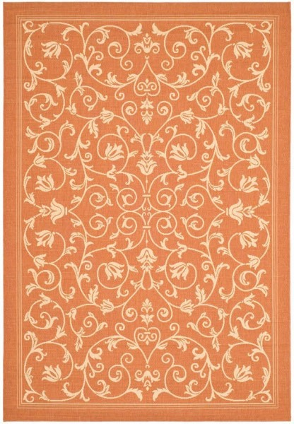 Terracotta, Natural (3202) Transitional Area Rug
