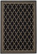 Product Image of Bordered Black, Sand (D) Area Rug