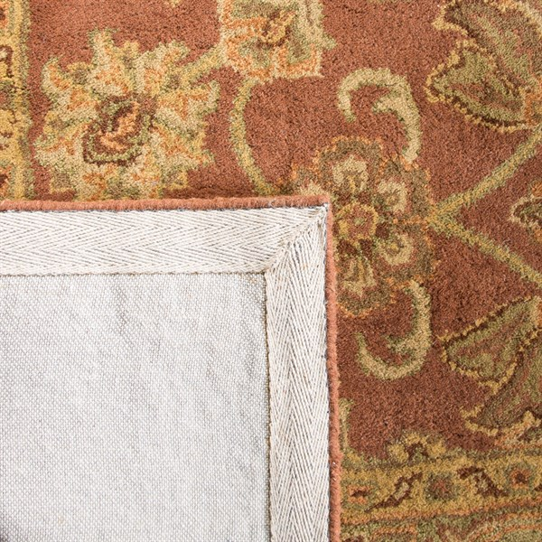 Rust, Green (E) Traditional / Oriental Area Rug