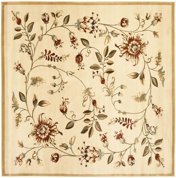 Ivory (1291) Floral / Botanical Area Rug