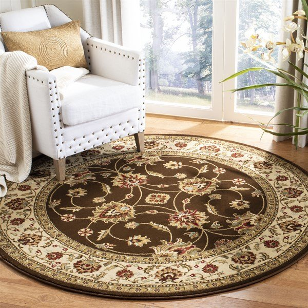 Brown, Ivory (2512) Traditional / Oriental Area Rug