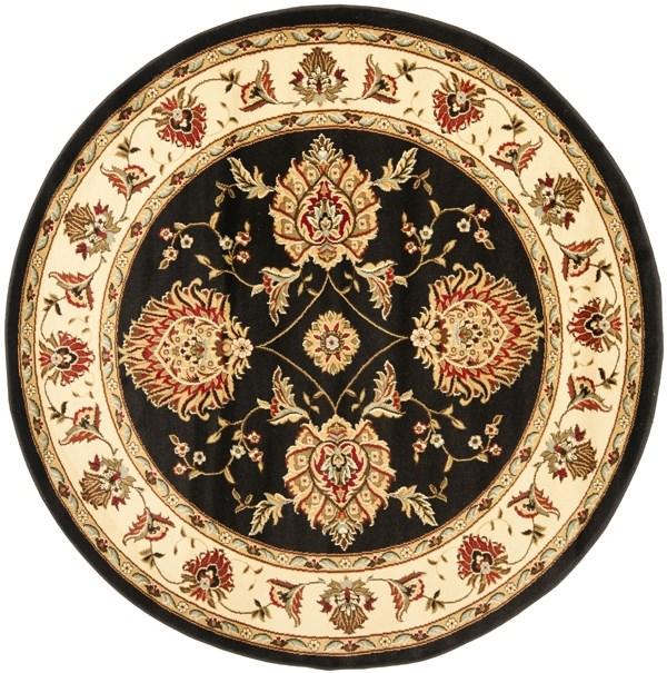 Black, Ivory (9012) Traditional / Oriental Area Rug