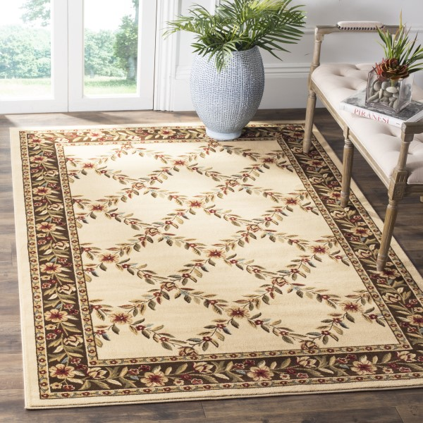 Ivory, Brown (1225) Traditional / Oriental Area Rug