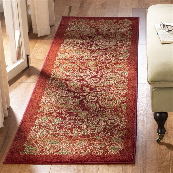Red (B) Paisley Area Rug