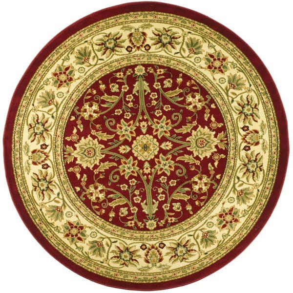 Red, Ivory (F) Traditional / Oriental Area Rug