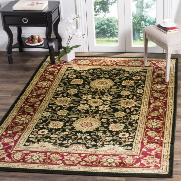 Black, Red (G) Traditional / Oriental Area Rug
