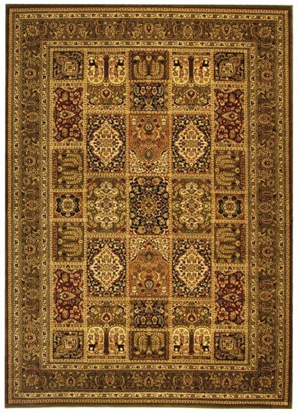 Green, Green (A) Traditional / Oriental Area Rug