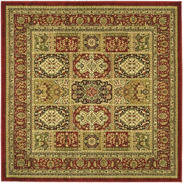 Red, Red (B) Traditional / Oriental Area Rug