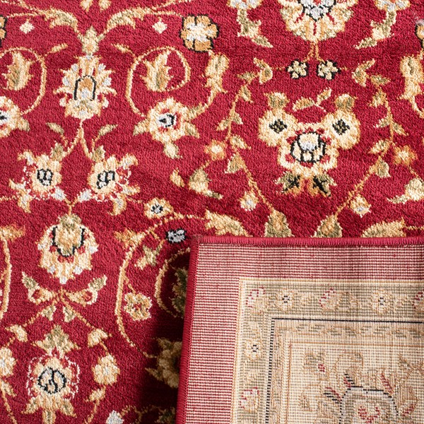 Red, Ivory (A) Traditional / Oriental Area Rug