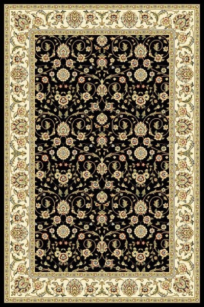 Black (B) Traditional / Oriental Area Rug