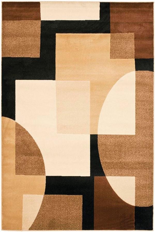 Black, Brown (9091) Geometric Area Rug