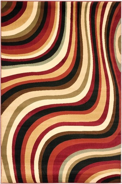 Red (4091) Contemporary / Modern Area Rug