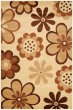 Product Image of Ivory, Brown (A) Contemporary / Modern Area Rug