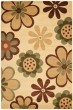 Product Image of Contemporary / Modern Ivory, Green (C) Area Rug