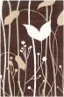 Product Image of Floral / Botanical Dark Brown, Ivory (D) Area Rug