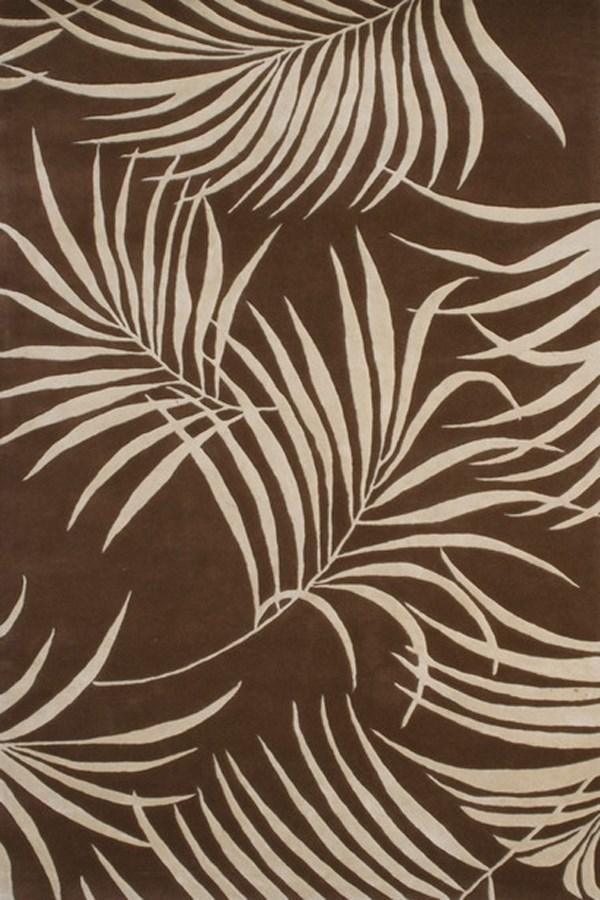 Brown, Beige (A) Floral / Botanical Area Rug