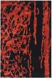 Product Image of Contemporary / Modern Black, Red (B) Area Rug