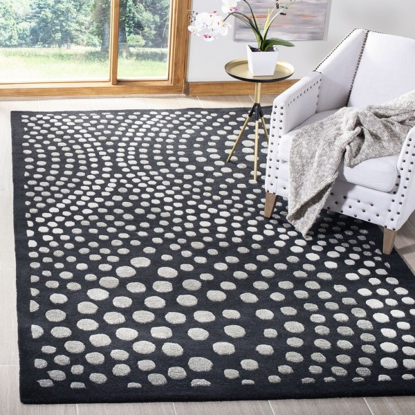 Dark Grey (A) Contemporary / Modern Area Rug