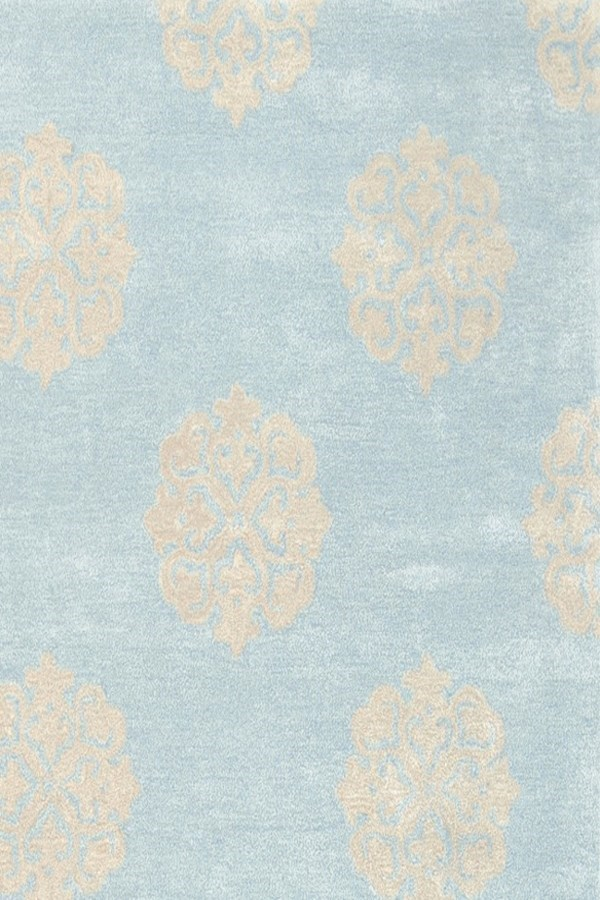 Turquoise, Yellow (A) Transitional Area Rug